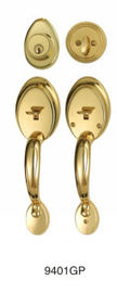 Hotel Door Handle Sets Gold Plated Painting Color Solid Material Handle