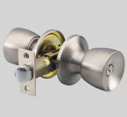 Office Round Stainless Steel Door Knobs Easy To Install White Color